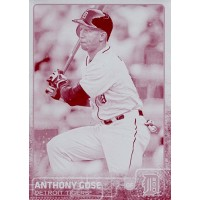 Anthony Gose Detroit Tigers 2015 Topps Magenta Printing Plate Card #413 1/1