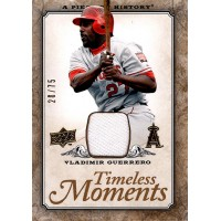 Vladimir Guerrero 2008 UD Timeless Moments A Piece of History Card #TM-24 20/75