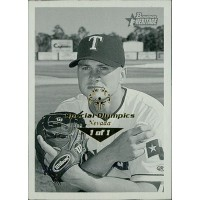 Rick Helling Rangers 2001 Bowman Heritage Card #193 Special Olympics Nevada 1/1
