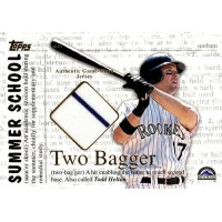 Todd Helton Colorado Rockies 2002 Topps Summer School Two Bagger Card #2B-TH