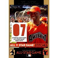 Torii Hunter 2007 Topps All-Star Game Stitches Jersey Patch Card #ASTH