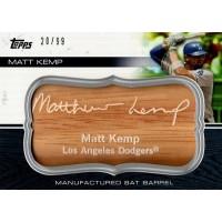 Matt Kemp Los Angeles Dodgers 2010 Topps Update Bat Barrel Card #MBB-42 20/99