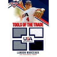 Landon Marceaux 2018 Panini USA Stars & Stripes Tools Of The Trade Card #38 /260