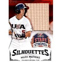Mark Mathias 2015 Panini USA Stars and Stripes Silhouettes Bat Card #69 27/69