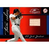 Hideki Matsui Yankees 2005 Donruss Classics Team Colors Bat Card #TC-16 92/100