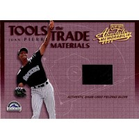 Juan Pierre 2002 Playoff Absolute Tools of The Trade Materials Card #TT-59 /125