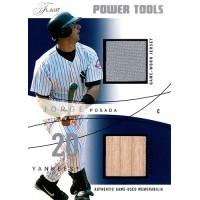Jorge Posada New York Yankees 2004 Flair Power Tools Bat Jersey Card #PT-JP /50