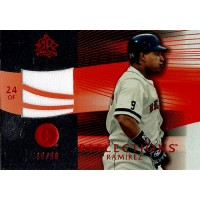 Manny Ramirez Boston Red Sox 2004 Upper Deck Reflections Red Card #245 /50