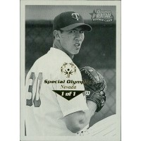 Jeff Randazzo Twins 2001 Bowman Heritage Card #204 Special Olympics Nevada 1/1
