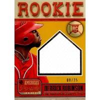 Derrick Robinson Cincinnati Reds 2013 Panini America's Pastime Card #240 /25