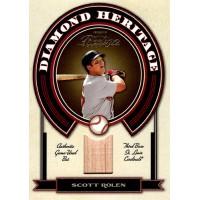 Scott Rolen Cardinals 2004 Playoff Prestige Diamond Heritage Bat Card #DH-15