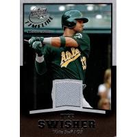 Nick Swisher Oakland A's 2008 Upper Deck Timeline Memorabilia Jersey Card #TM-NS
