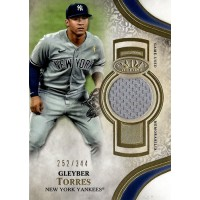 Gleyber Torres New York Yankees 2021 Topps Tier One Relic Card #T1R-GT /344