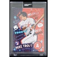 Mike Trout Los Angeles Angels Topps Project 2020 Card 2011 RC #142