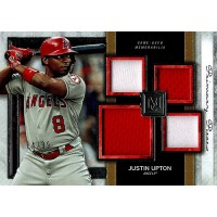 Justin Upton 2020 Topps Museum Collection Primary Pieces Quad Relic Card /99