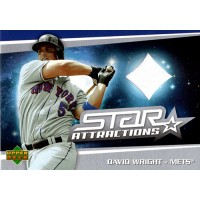David Wright New York Mets 2006 Upper Deck Star Attractions Jersey Card #SA-WR