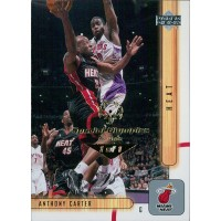 Anthony Carter Miami Heat 2001-02 UD Card #91 Special Olympics Nevada 1/1