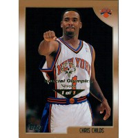 Chris Childs NY Knicks 1998-99 Topps Card #173 Special Olympics Nevada 1/1
