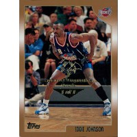 Eddie Johnson Houston Rockets 1998-99 Topps Card #36 Special Olympics Nevada 1/1
