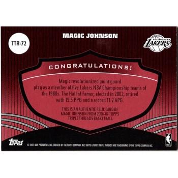 Magic Johnson Los Angeles Lakers 2007 Topps Triple Threads Card #TTR-72 7/36