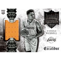 D'Angelo Russell LA Lakers 2015-16 Panini Excalibur Knight School Jersey Card #6