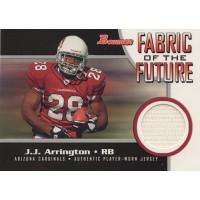 J.J. Arrington 2005 Bowman Topps Fabric of the Future Relic Card #FF-JJA