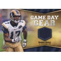 Donnie Avery St. Louis Rams 2009 Upper Deck Game Day Gear Card #NFL-DA