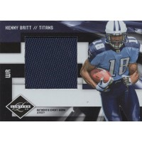 Kenny Britt Tennessee Titans 2009 Limited Rookie Jumbo Jersey Card #17 /50