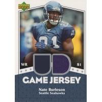 Nate Burleson Seattle Seahawks 2007 Upper Deck UD Game Jersey Card #UDGJ-NB