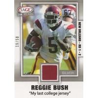 Reggie Bush Trojans 2006 Sage Game Exclusives Silver Swatch Jersey Card #RB2 /50
