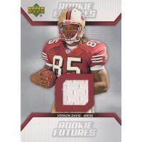 Vernon Davis 49ers 2006 Upper Deck Rookie Futures Jersey Card #RF-VD