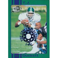 T.J. Duckett 2002 Press Pass JE Old School Card #OS12 The Gem Collection 1/1