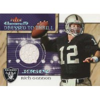 Rich Gannon Oakland Raiders 2002 Fleer Maximum Dressed to Thrill Jersey Card