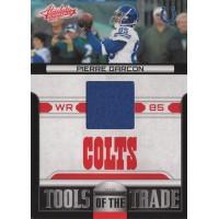 Pierre Garcon 2011 Absolute Memorabilia Tools of the Trade Materials Card #16