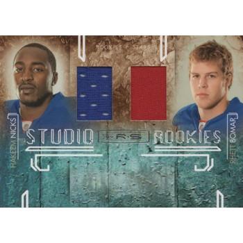Hakeem Nicks & Rhett Bomar 2009 Rookies Stars Studio Rookies Combos Card #5 /299