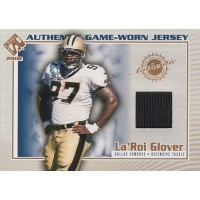 La'Roi Glover 2002 Pacific Private Stock Reserve Authentic Jersey Card #38