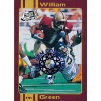 William Green 2002 Press Pass JE Old School Card #OS11 The Gem Collection 1/1