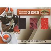 Montario Hardesty 2010 Gridiron Gear Rookie Gems Trio Card #269 /50