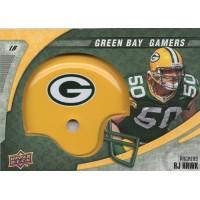 AJ Hawk Green Bay Packers 2008 Upper Deck Gamers Card #1