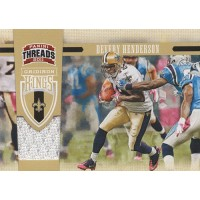 Devery Henderson 2011 Panini Threads Gridiron Kings Materials Card #42 /299