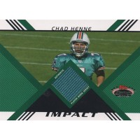 Chad Henne Dolphins 2008 Topps Stadium Club Impact Relic Jersey Card #IRCH /1349