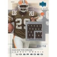 James Jackson Cleveland Browns 2001 Upper Deck UD Graded Jersey Card #63 /750