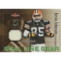 Kevin Johnson Cleveland Browns 2001 Fleer Goal Line Gear Relic Card