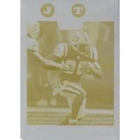 Thomas Jones New York Jets 2008 Topps Yellow Printing Plate Card #68 1/1