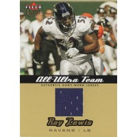 Ray Lewis Baltimore Ravens 2005 Fleer Ultra All-Ultra Team Jersey Gold Card