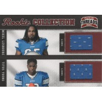 Detroit Lions Leshoure T. Young 2011 Panini Threads Rookie Collection Card 4 299