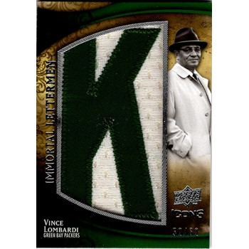 Vince Lombardi Packers 2009 UD Icons Immortal Letterman K Card #IL-VL /62