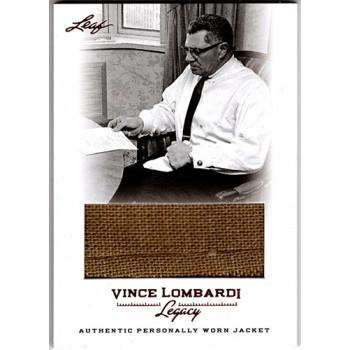 Vince Lombardi Green Bay Packers 2012 Leaf Legacy Worn Jacket Card #WJ-26