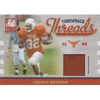 Cedric Benson Jamaal Charles 2009 Donruss Elite Throwback Threads Card #20 /280