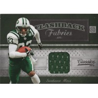 Santana Moss Jets 2010 Panini Flashback Fabrics Classics Jersey Card #24 /500